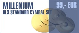 Millenium HL3 Cymbal Set Standard