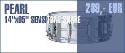 "Pearl 14""x05"" Sensitone Snare Steel"