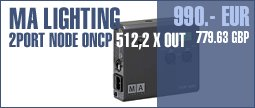 MA Lighting 2Port Node onPC 512, 2xOut
