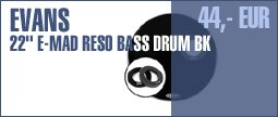 "Evans 22"" E-Mad Reso Bass Drum BK"