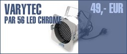 Varytec PAR56 LED chrome, DMX, RGB