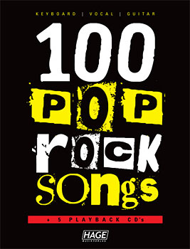 Hage Musikverlag 100 Pop Rock Songs Mit 5 Cds