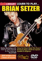 Music Sales Learn to Play Brian Setzer DVD
