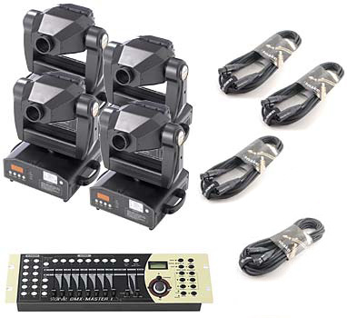Stairville MV-250H Moving Head 4er Set DMX