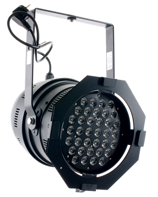 Stairville LED PAR64 36x1 PRO Black Short