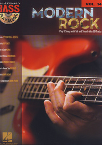 Hal Leonard Modern Rock Bass Play Along