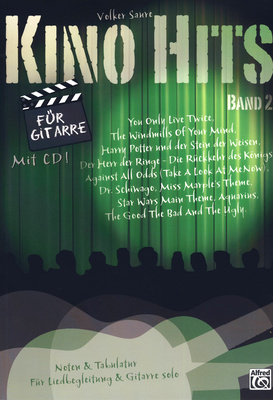 Alfred Music Publishing Kino Hits for Gitarre Vol.2