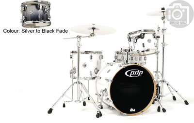 DW PDP CM4 Studio Silver / Black