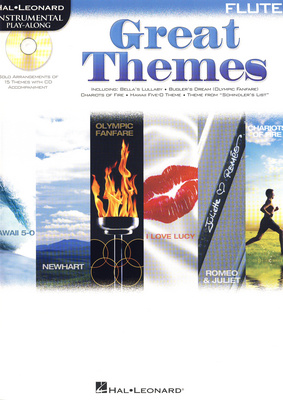 Hal Leonard Flute Play-Along| Great Themes