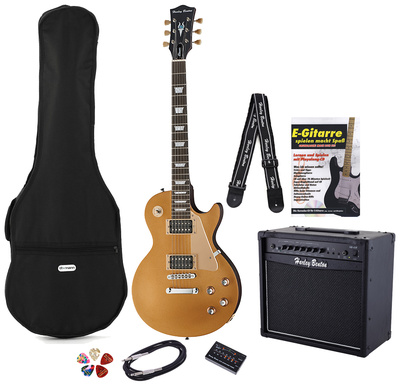 Harley Benton L-400 Gold Top Set 3