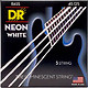 DR Strings HiDef White Neon Bass 5